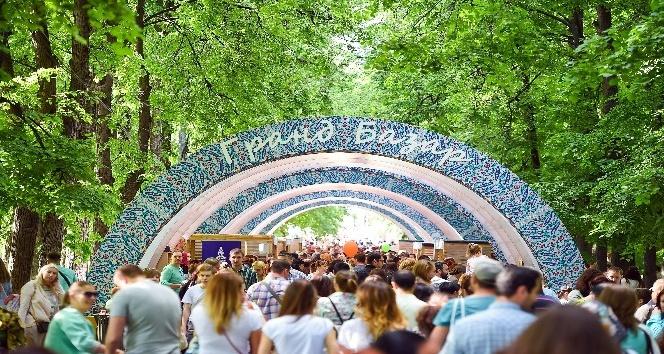 """Moskova'daki """"Türkiye Festivali""""ne ziyaretçi akını"""