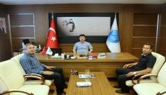 Futbol Hakemleri Temsilcilerinden Rektör Karacoşkuna  ziyaret