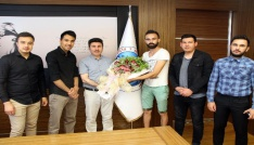 Uluslararası Öğrenciler Rektör Karacoşkunu ziyaret etti