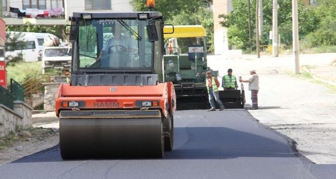 Safranbolu'da asfalt çalışması