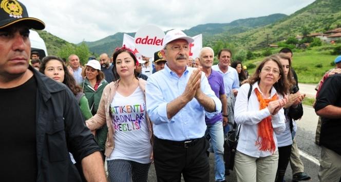 CHPnin yürüyüşünün 5. günü tamamlandı