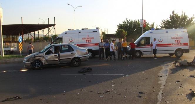 Şanlıurfada trafik kazası: 4 yaralı (17 Haziran 2017)