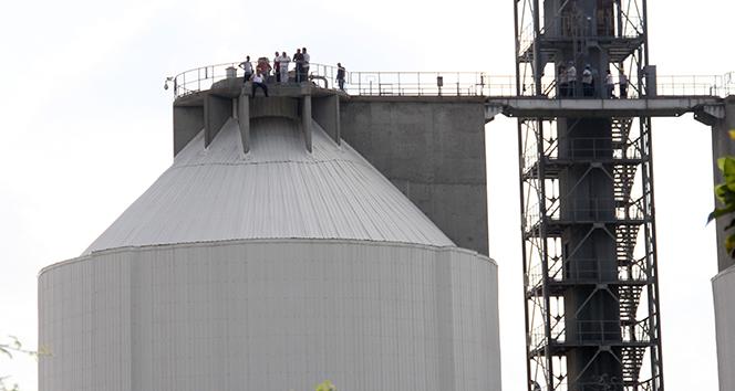 40 metrelik tankta intihar girişimi