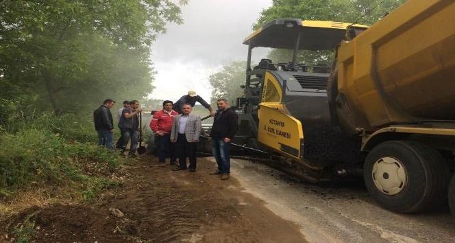 Simav'da yol yapımı