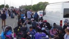 (Özel haber) Binlerce Suriyeli ülkelerine gitmek için geceden kuyruğa girdi