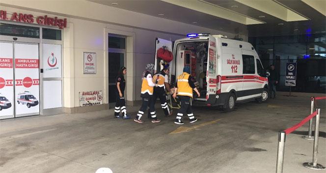 Düzcede yüksekten düşen işçi yaralandı