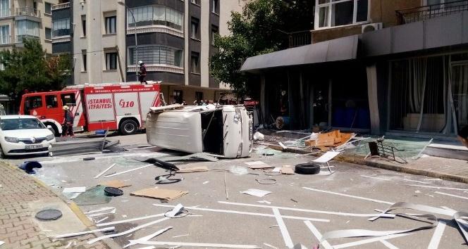 Maltepe'de iş yerinde patlama:1 yaralı