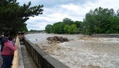 Etkili olan yağmur suları Taşköprüde sele neden oldu