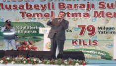 Bakan Eroğlu, Kiliste temel atma törenine katıldı
