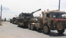 Suriye sınırına fırtına obüs ile topçu bataryaları sevk edildi