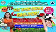 Dinarda, ücretsiz yaz spor okulu başlıyor