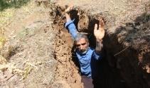 Bingöl'de insan boyunda esrarengiz yarıklar