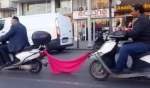 İstanbul'da tehlikeli ve ilginç yolculuklar kamerada
