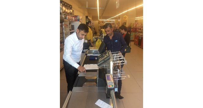 Karsta market terazilerinin denetimi devam ediyor