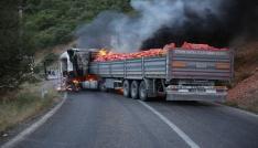 Tuncelide yol kesen PKKlılar araç yaktı