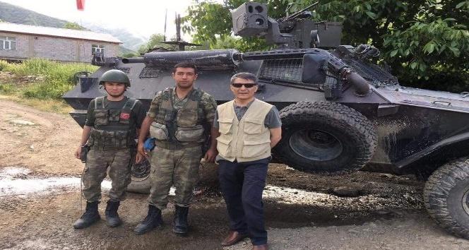 Kaymakam Özkandan operasyon bölgesindeki askerlere ziyaret