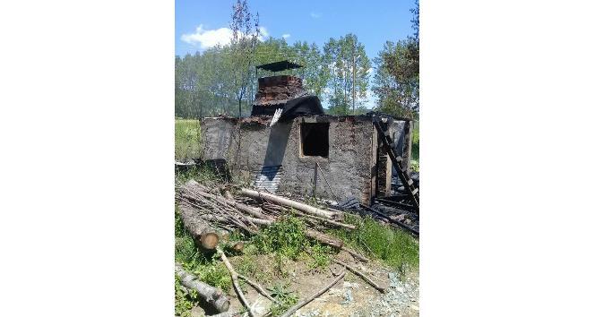 Kastamonuda at çiftliğinde yangın çıktı