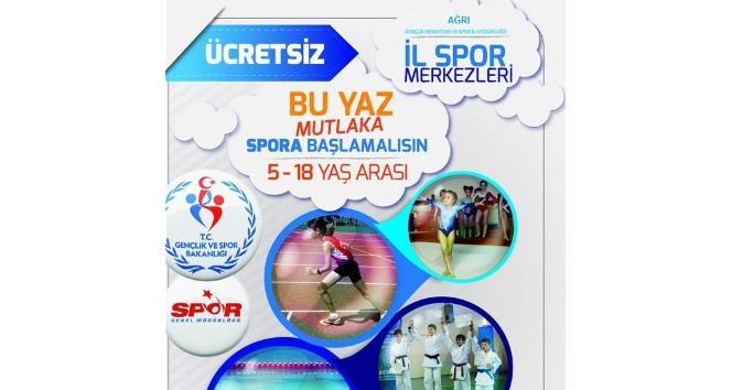 Ağrıda Yaz Spor Okulları kayıtları devam ediyor