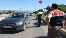 Elazığda bayram öncesi trafik uygulaması