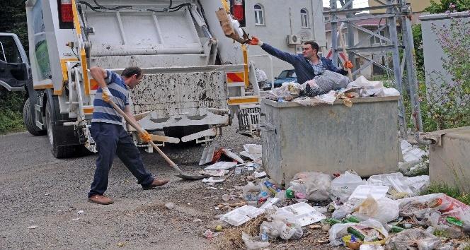 Kastamonuda kırsal kesimden çöp toplama devri başladı