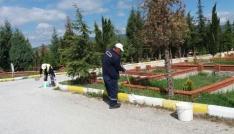 Mezarlıklar bayram ziyaretleri için hazırlandı