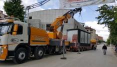 Pazaryeri İş Kültür Merkezinin trafo binası değiştirildi