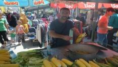 Iğdırda bayram öncesi pazar kuruldu