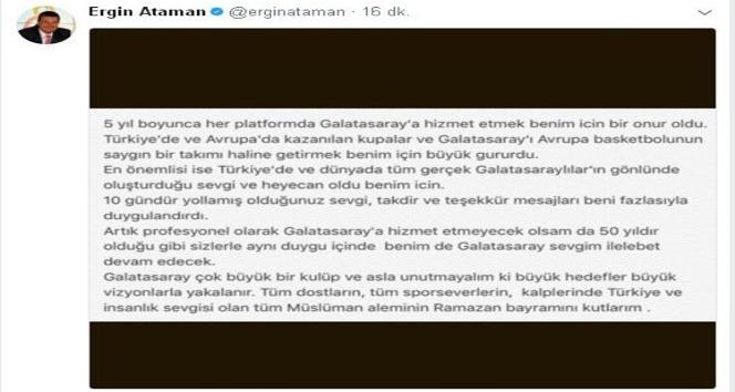 """Ergin Ataman: """"Unutmayalım ki büyük hedefler büyük vizyonlarla yakalanır"""""""