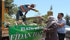 Elazığda mezarlıklarda 10 bin fidan dağıtıldı