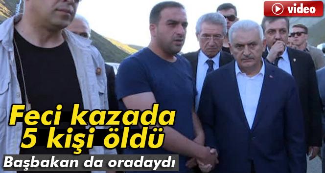 Başbakan Yıldırım'ın yol güzergahında feci kaza