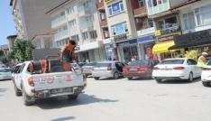 Bilecikin cadde ve sokakları gül suyu koktu
