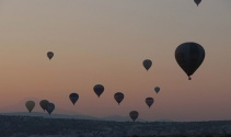 Kapadokya'da bayram coşkusu gökyüzünde başladı