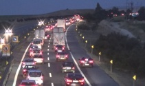 Silivride tatilcilerin dönüş yoğunluğu trafiğe neden oldu