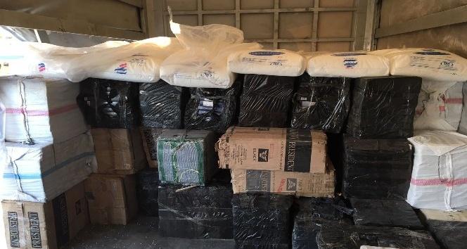 Erzurum'da 109 bin paket kaçak sigara ele geçirildi