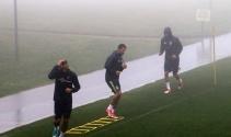 Fenerbahçe sis altında çalıştı!