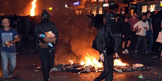 Hamburg'da caddeler savaş alanı
