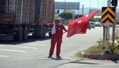 15 Temmuz şehitleri için Ankaraya yürüyor