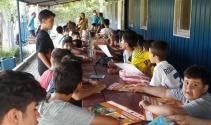 Sporcu çocuklara, çocuk hakları eğitimi verildi