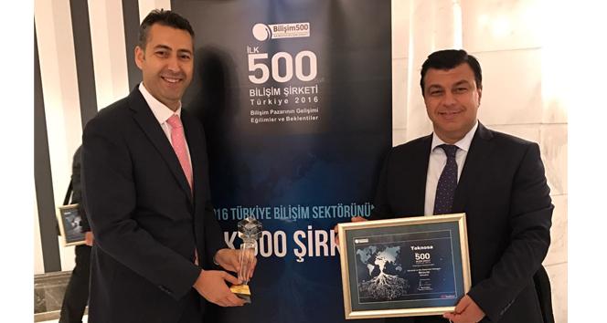 TeknoSA'ya Bilişim 500'de 2 ödül