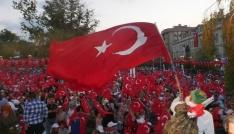 Trabzonda 15 Temmuz Yürüyüşü