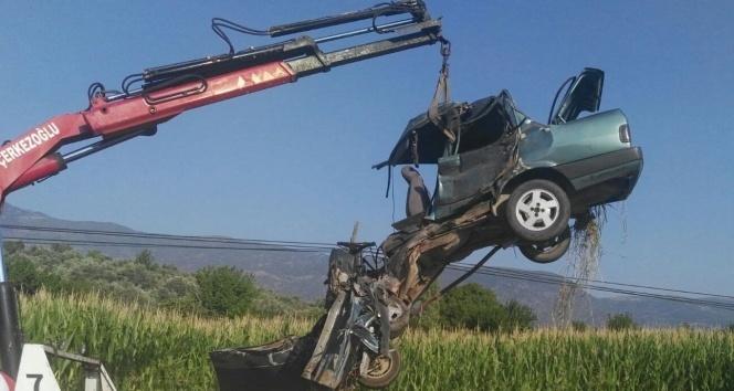Bozdoğanda feci kaza; 2 yaralı