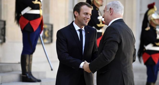 Macron, Netanyahuyu kabul etti
