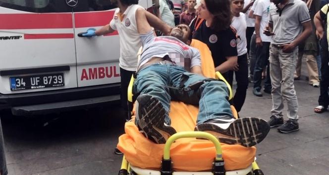 Torbacı olduğu iddia edilen şahsa kafede silahlı saldırı