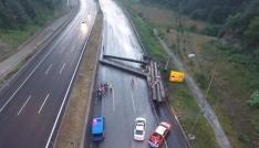 TEM Otoyolu trafiğe kapandı