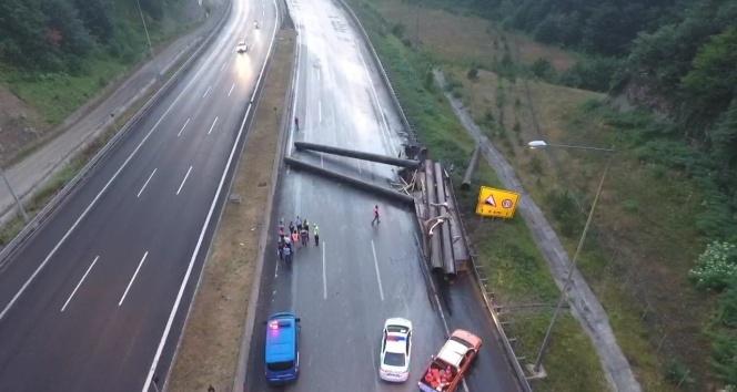 Son dakika haberleri! TEM Otoyolu trafiğe kapandı