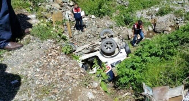 Giresunda trafik kazası 1 ölü 2 yaralı