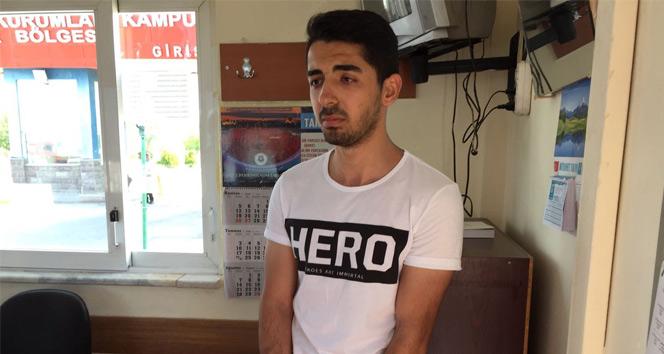 Sanık yakını HERO tişörtü ile davaya girmeye çalıştı