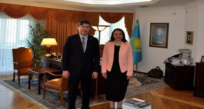 Patronların Başkanı Kazakistan Cumhuriyeti Ankara Büyükelçiliğinde