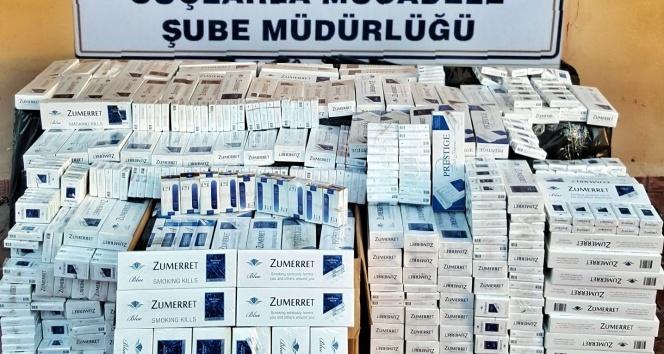 Polis otobüste 9 bin paket gümrük kaçağı sigara ele geçirdi