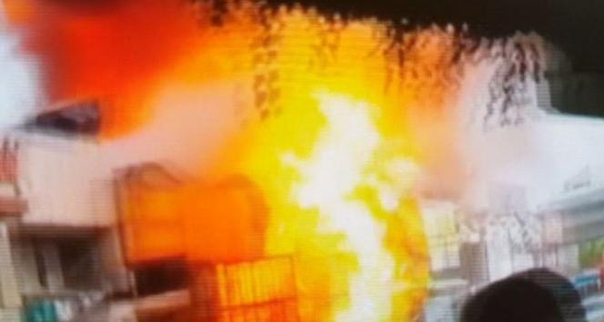 Samsunda 15 kişinin yaralandığı patlamanın görüntüleri ortaya çıktı